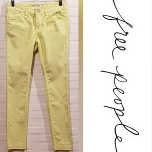 Free People Lime Green Skinny Jeans